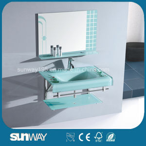 Hot Sell 19 Mm Glass Bathroom Basin with Certificate pictures & photos