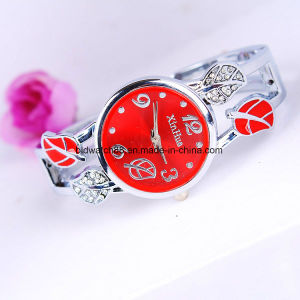 Silver Round Ladies Bangle Bracelet Watch Quartz pictures & photos