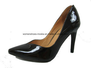 Black Color Women Fashion High Heel Lady Dress Shoes pictures & photos