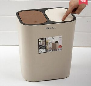 Two Lids New Design Fashion Plastic Waste Bin pictures & photos