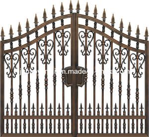Decorative Apartment Gate with Coffee Gold Brushed