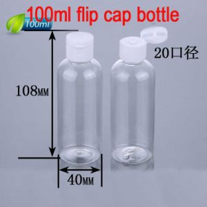 100ml Easy Open Flip Top Cap Plastic Bottle for Cosmetic Packaging pictures & photos