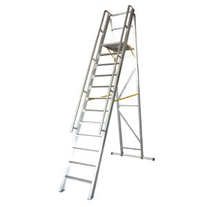 3m Aluminum Alloy Folding Platform and Step Ladder pictures & photos