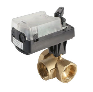 3 Way Brass Ball Valve with Damper Actuacor pictures & photos