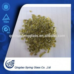 Crushed Amber Clear Glass Chips for Wholesale pictures & photos