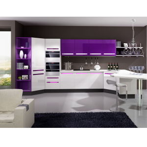 China Oppein Purple Lacquer Mdf Wood Kitchen Cabinet Op12 X143 China Kitchen Cabinet Mdf