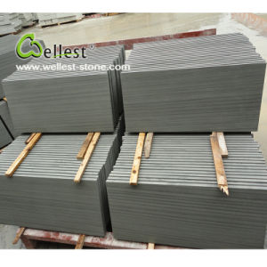 High Quality China Sy158 Grey Wood Honed Surface Sandstone pictures & photos