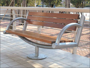 2015new WPC Outdoor Chair, Furniture, Garden Bench (004X)