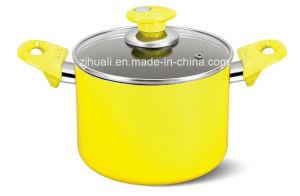 20cm Yellow Aluminum Non-Stick Casserole