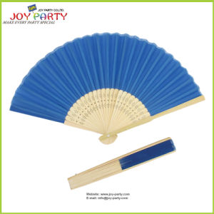 Deep Blue Silk Hand Fan pictures & photos