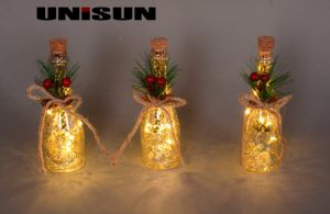 Christmas Decoration Light Glass Craft with Copper String LED Light for Wall Art (17011) pictures & photos
