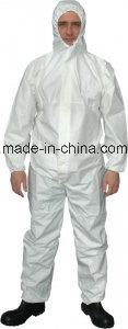 Waterproof Plastic Protective Clothing Disposable Coverall Pilot Overall pictures & photos