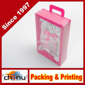 Gift Paper Box with Handle with Window (3173) pictures & photos