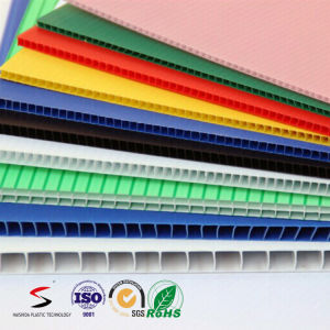 Polypropylene PP Twin Wall Corrugated Plastic Sheet/ Board pictures & photos