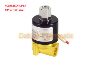"""1/4′"""" Normally Open Brass Electric Solenoid Valve 2W012-08-K 12VDC pictures & photos"""