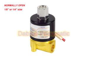 "1/4′"" Normally Open Brass Electric Solenoid Valve 2W012-08-K 12VDC"