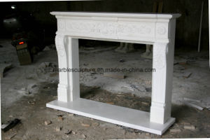 White Carrara Antique Marble Fireplace Sy-Mf318 pictures & photos