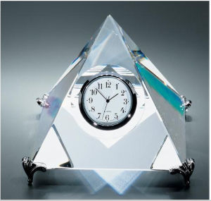 Morden Glass Table Clock Fashion Crystal Desk Clock Crystal Clock pictures & photos