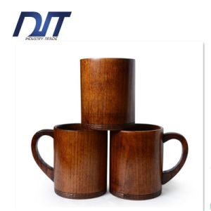 Custom Design OEM High Quality Beer Wood Mug with Handle pictures & photos