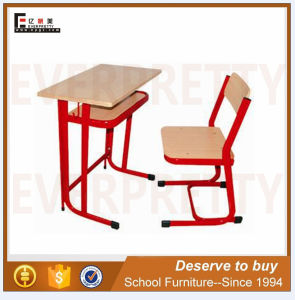 Portable School Classroom Student Single Desk and Chair (SF-55F) pictures & photos
