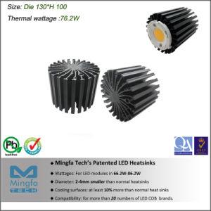 LED Heatsink Cooler Passive Extrusion Aluminum Dissipation Dia. 130mm Height 100mm