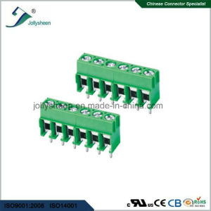 PCB Screw Terminal Blocks Pitch 5.0mm 6p DIP Type with Green Base pictures & photos