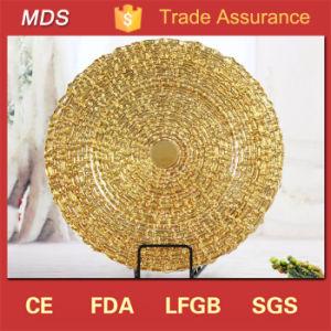 Hot Sale Antique Eco-Friendly Wedding Gold Charger Plates Wholesale pictures & photos