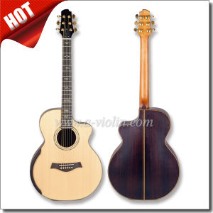 "40"" Auditorium Cutaway Mahogany Neck All Solid Acoustic Guitar (AFH131C) pictures & photos"