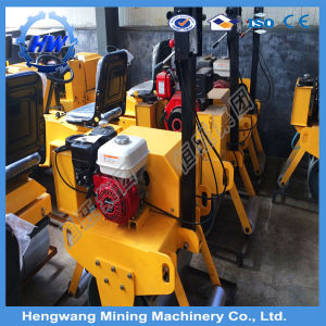 Double Drum Walking Behind Mini Vibratory Road Roller pictures & photos