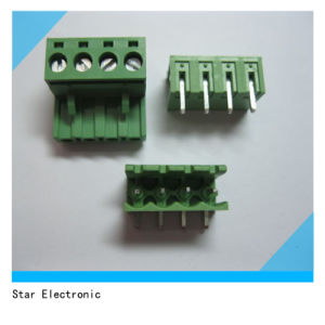 PCB Screw Terminal Block Pluggable Type Green pictures & photos