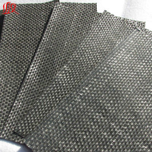 High Quality Black Color Plastic Woven Geotextile for Weeding pictures & photos