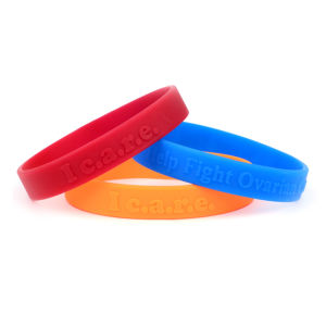Logo Embossed Silicone Bracelet pictures & photos