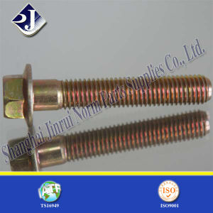Zinc Plated Yellow Hex Flange Bolt pictures & photos