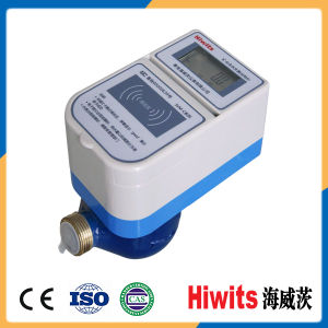 Hiwits Digital Contactless IC Card Prepaid Water Flow Meter From China pictures & photos