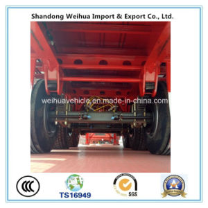 China 40FT Container Trailer Flatbed Trailer with 12 Twist Locks pictures & photos