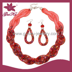 Red Crystal Earring&Bracelet Jewelry Set (2015 Gus-Fsns-038) pictures & photos
