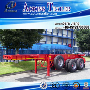 Hot Selling Tri-Axle 40ft/45ft Gooseneck Skeleton Container Semi Trailer pictures & photos
