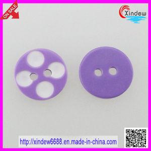 Purple Plastic 2-Hole Kids Children Button (XDJZ-069) pictures & photos