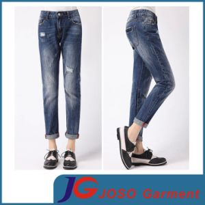 Women Ripped Tear Wash Denim Jean (JC1250) pictures & photos