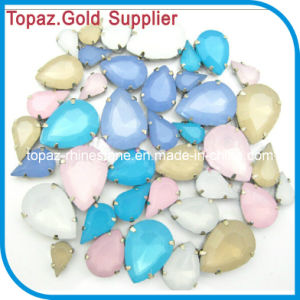 Opal Hot Pink Color Sew on Crystal Stone Acrylic Stone pictures & photos