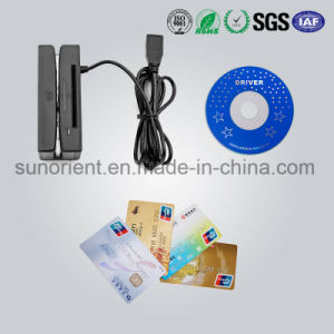 90mm USB 3 Track Magnetic Strip Card Reader pictures & photos