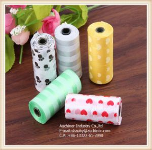 Popular Plastic Biodegradable Dog Poop Bag on Roll pictures & photos