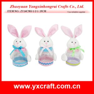 Easter Decoration (ZY14C903-1-2-3 19CM) Easter Rabbit Toys Gift Ornament Product pictures & photos