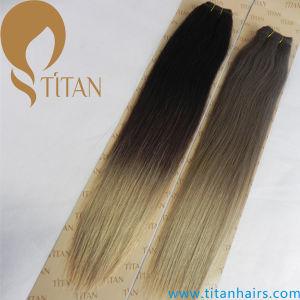 Ombre Human Hair Weft Brazilian Virgin Hair pictures & photos