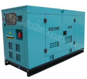 20kVA~56kVA Isuzu Soundproof Diesel Generator Set with CE/Soncap/Ciq Certiifcations pictures & photos
