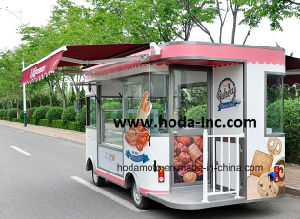 Fast Food Shop Car Electric Working Vending Bus