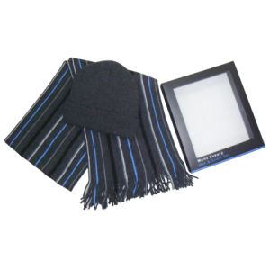 High Quality Winter Warm Warp Knitting Men Hat & Scarf Sets pictures & photos