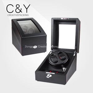 2+3 Custom Logo Carbon Fiber PU Leather Watch Winder pictures & photos