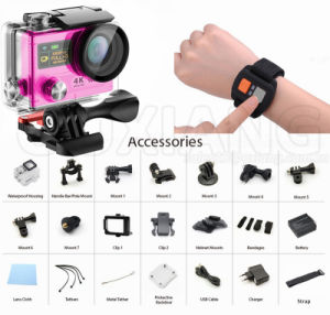 4k Waterproof 1050mAh Rechargeable Battery WiFi Sports Camera Ultra HD Action Camera pictures & photos