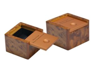 Matt Golden Painting Wooden Gift Box pictures & photos